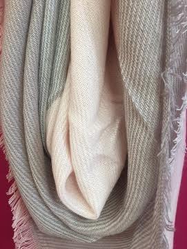 Pink Plaid Blanket Scarf