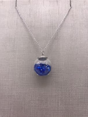 Forever Crystals Blue Sapphire Globe Pendant
