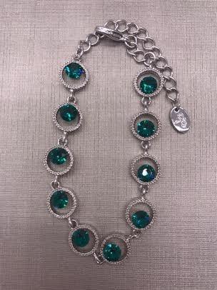 Forever Crystals Emerald Celebration Bracelet