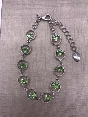 Forever Crystals Peridot Celebration Bracelet