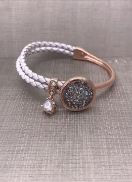 Forever Crystals Rose Gold Constellation Bracelet with Silver Night Crystals