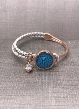 Forever Crystals Rose Gold Constellation Bracelet with Blue Crystals