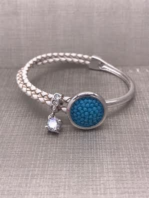 Forever Crystals Silver Constellation Bracelet with Blue Crystals