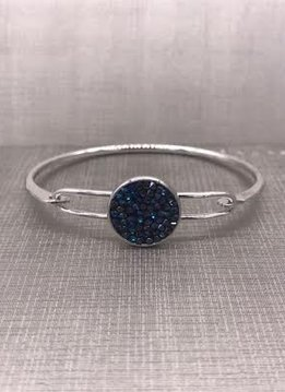 Forever Crystals Navy Constellation Silver Bangle