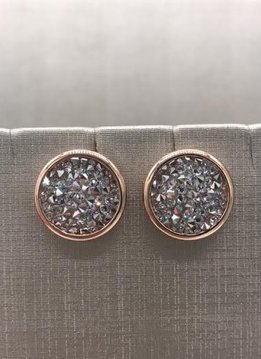 Forever Crystals Rose Gold Constellation Stud Earrings Clear Crystal