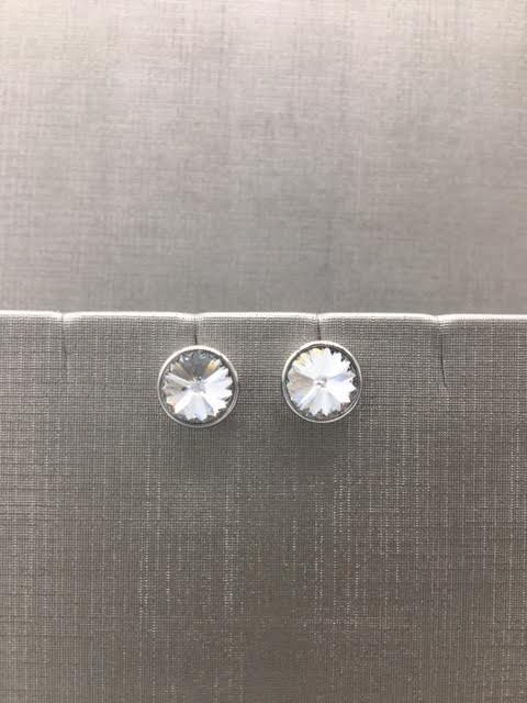 Forever Crystals Silver Forever Stud Clear Crystal