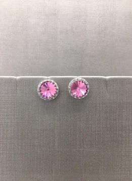 Forever Crystals Halo Rose Earrings