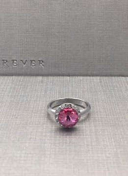 Forever Crystals Rose Halo Ring