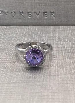 Forever Crystals Violet Halo Ring