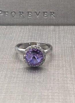 Forever Crystals Violet Halo Ring