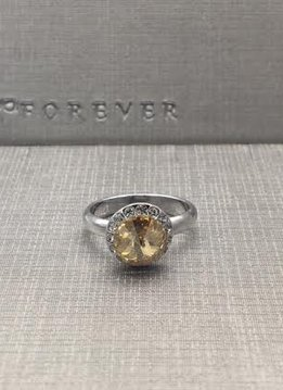 Forever Crystals Golden Shadow Halo Ring