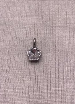 Forever Crystal Silver Clear Crystal Fancy Flower Charm