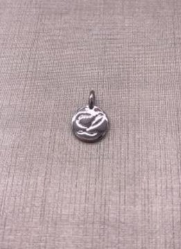 Forever Crystal Silver Initial L Charm