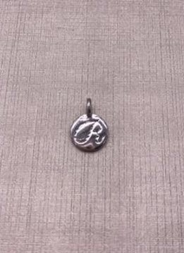 Forever Crystal Silver Initial R Charm
