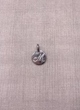 Forever Crystals Silver Initial M Charm