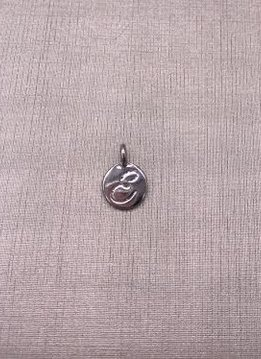 Forever Crystals Silver Initial E Charm