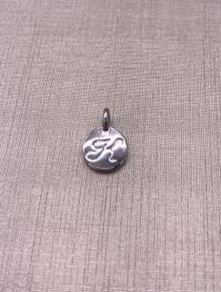 Forever Crystals Silver Initial K Charm
