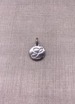 Forever Crystals Silver Initial S Charm