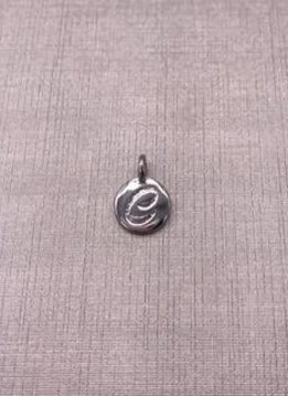 Forever Crystals Silver Initial C Charm