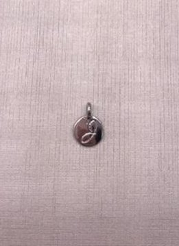 Forever Crystals Silver Initial J Charm