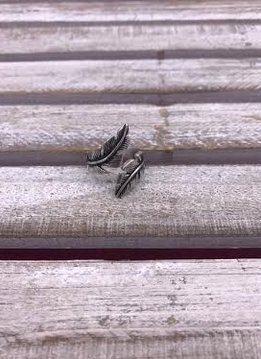 Stainless steel Double Feather Ring