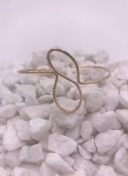 Gold Filled Swirl Bangle