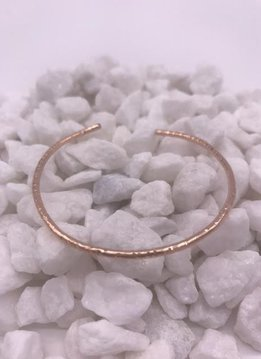 Rose Gold Filled Hammered Bangle