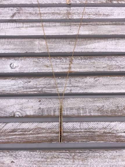 Gold Filled Tourmaline Vertical Bar Necklace