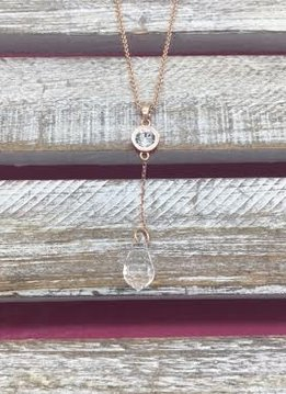Swarovski Crystal Rose Gold Necklace