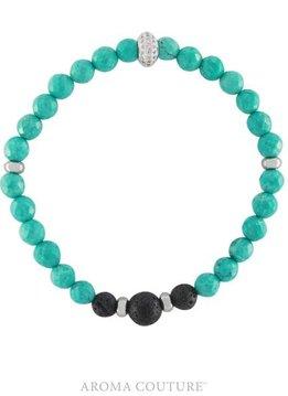 Stackable Turquoise Lava Rock Diffuser Bracelet