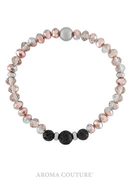 Pink Crystal Lava Rock Diffuser Bracelet