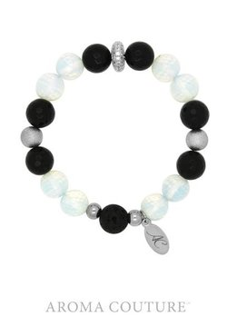 Onyx and Opalite Lava Rock Diffuser Bracelet