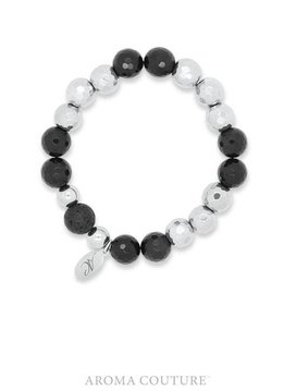 Onyx and Hematite Lava Rock Diffuser Bracelet