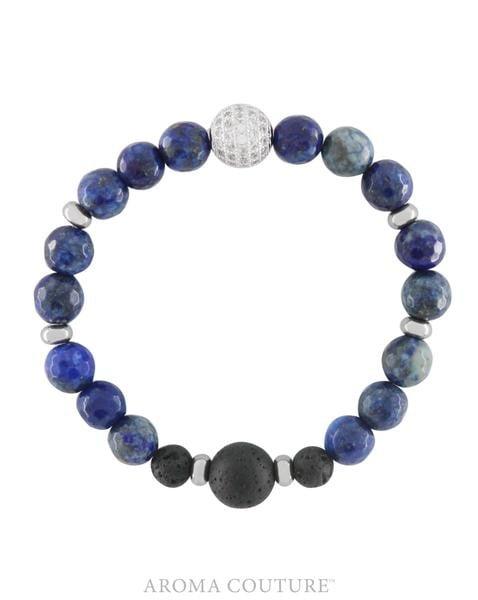 Blue Lapis Lazuli Lava Rock Diffuser Bracelet