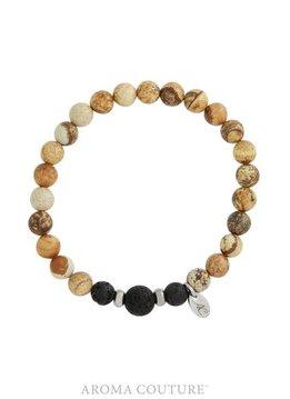 Picture Jasper Lava Rock Diffuser Bracelet