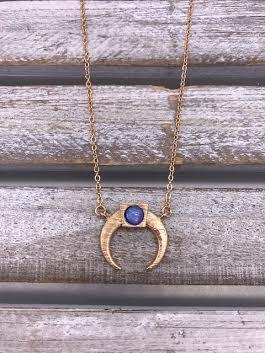 Gold Horn Opal Celestial Necklace