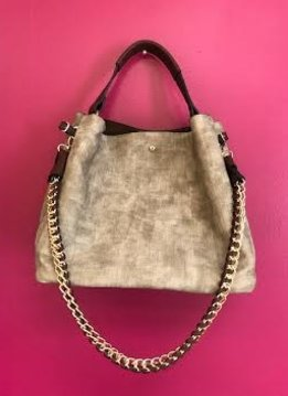 Stone Double Strap Chic 2 in 1 Satchel Purse