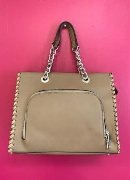 Stone 2 in 1 Handbag Set with Chain Handle