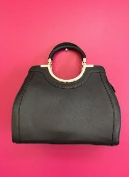 Black Leather 2 in 1 Purse Set