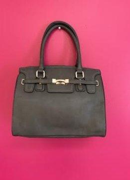 Charcoal Grey 2 in 1 Designer Tote Bag