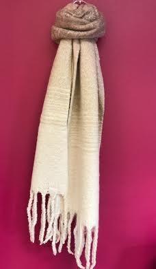 Blush Ombre Knit Tassel Scarf