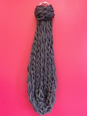 Purple Ultra Soft Chunky Knit Infinity Scarf