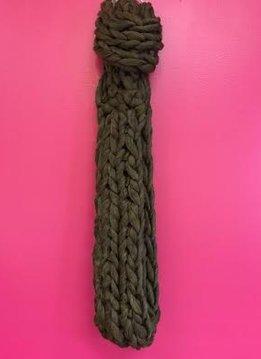 Olive Ultra Soft Chunky Knit Infinity Scarf