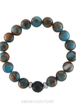 Jasper Lava Rock Diffuser Bracelet