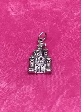 Sterling Silver Castle Charm