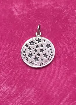 "Sterling Silver ""Rach for the Stars"" Charm"