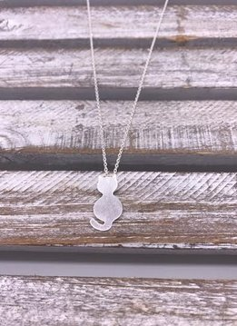 Stainless Steel Silver Cat Silhouette Necklace