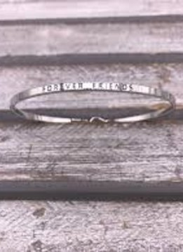 Forever Friends Silver Bangle