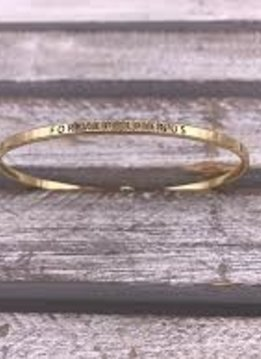 Forever Friends Gold Bangle