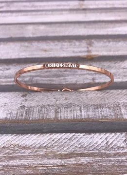 Bridesmaid Rose Gold Bangle